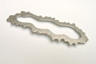 Broche Every cloud has a silver lining 1998 zilver afm 8cm breed € 165,-